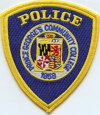 Prince Georges Community College Maryland Md Police Patch