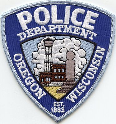 Oregon Wisconsin Wi Police Patch