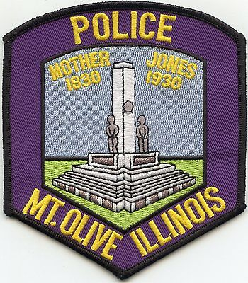 Mount Olive Illinois Il Police Patch