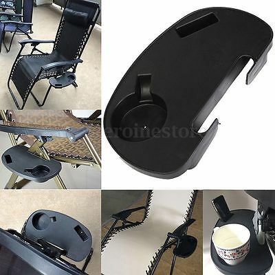 Clip On Beach Chair Side Table Tray Drink MP3 Player Holder Outdoor Fishing Tidy