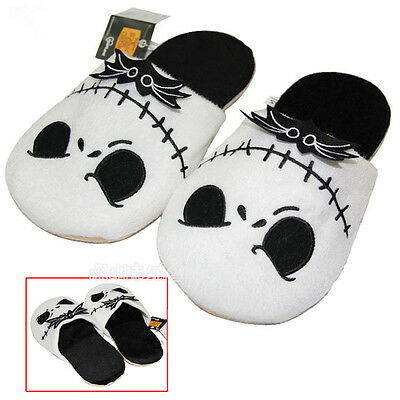 The Nightmare Before Christmas Jack Skellington Soft Plush Slippers Adults Warm