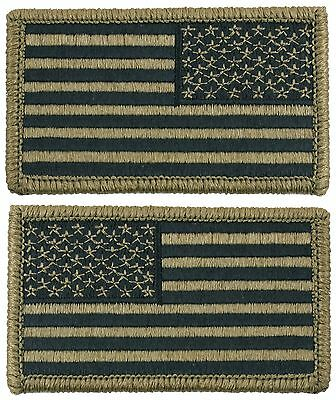 US Army OCP Scorpion Camo USA Flag Patch for Uniform Hook Backing Rothco 17790