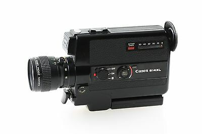 Canon 514XL 514 XL Super 8 Filmkamera mit C-8 9-45mm 1:1.4 Macro Optik - Lesen!