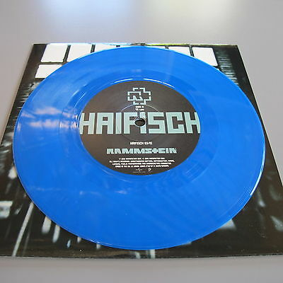 Rammstein Haifisch Blue Vinyl 45 Embossed Gloss Sleeve Unplayed # 2019