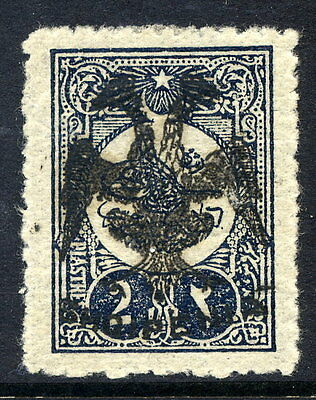 ALBANIA 1913 Eagle handstamp on 2 piastre of Turkey LHM