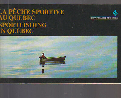 Sportfishing in Quebec Canada Booklet 1975 Fishing