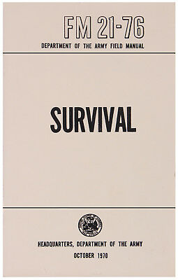 new us army survival field manual book fm 21-76 rothco 1402