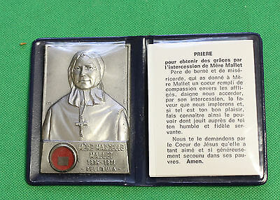 Mere Marcelle Mallet 1805 1871  Medal W/Relic 2 1/4 inch by 1 1/2 with booklet