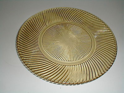 Federal Depression Glass Amber DIANA Dinner Plate/s