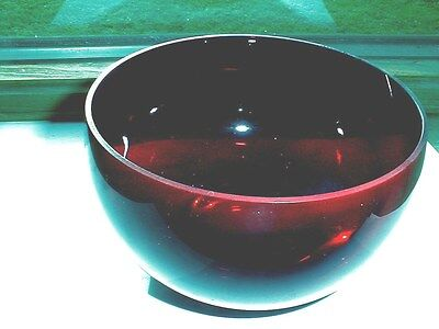 Christmas Holiday Red Ruby Art Glass Cupped Bowl/s - Gorgeous (loc-big)