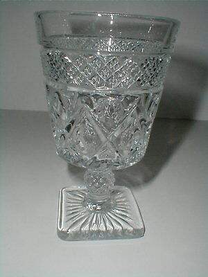 "Imperial Glass Clear CAPE COD 5 1/2"" Water Goblet EXC"