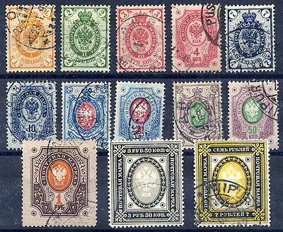 FINLAND 1891 Russian Arms with circles complete set used.