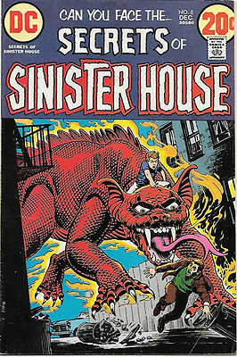 Secrets of Sinister House Comic Book #8, DC Comics 1972 FINE+