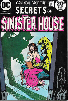 Secrets of Sinister House Comic Book #15, DC Comics 1973 FINE+