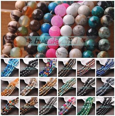 4mm 6mm 8mm 10mm Natural Stone Gemstone Round Loose Spacer Beads