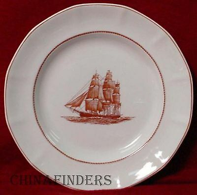 "WEDGWOOD china FLYING CLOUD RUST pattern Dinner Plate @ 10-1/4"" - wear"