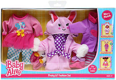 Baby Alive 3 Pack Outfits One Size - Pretty Lil Fashion Set