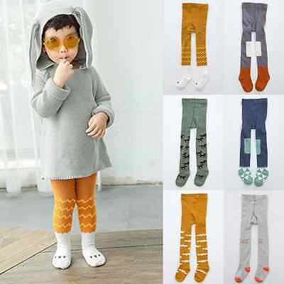 Cute Baby Girls Boys Toddler Kids Soft Cotton Tights Stockings Socks Pantyhose T
