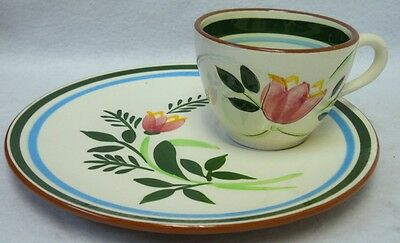 STANGL china COUNTRY GARDEN pattern SNACK Cup & Saucer Set
