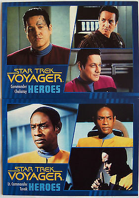 Star Trek Voyager Heroes & Villains Single Gold Parallel Trading Card Selection