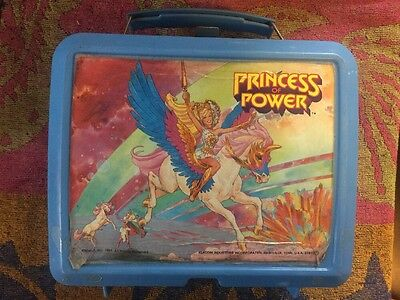 Princess Of Power Mattel Aladdin 1985 Plastic Lunch Box Missing Thermos She Ra