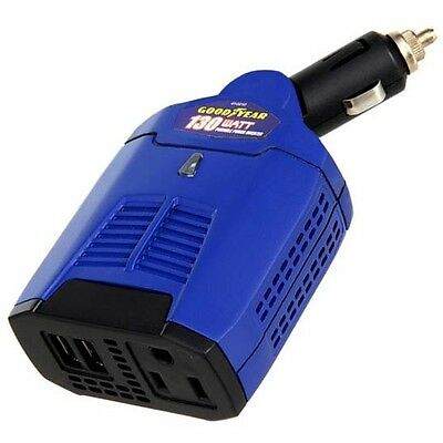 Goodyear 130W 1 Outlet/2 USB Vehicle Power Inverter