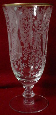 TIFFIN crystal CHERRY LAUREL 17392 Iced Tea Glass or Goblet - 6-5/8""