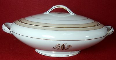 NORITAKE china AVON 5531 Round Covered Vegetable Serving Bowl & Lid