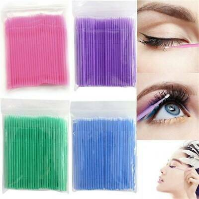 100 Pcs Disposable Eyelashes Extension Swab Applicator Micro Brush Mascara Tools
