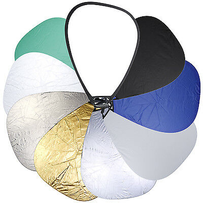 """Neewer 8 in 1 32"""" Collapsible Triangle Multi Camera Lighting Reflector Kit"""