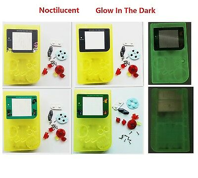 Night Light Noctilucent Clear Yellow Housing Shell Case for Gameboy Classic DMG