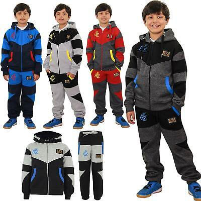 Kids Tracksuit Boys NYC Deluxe Edition Print Hoodie Bottom Jogging Suit 7-13 Yr