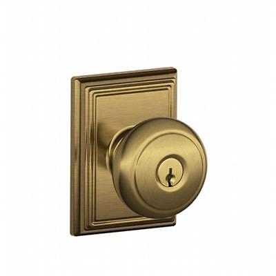 Schlage Lock Addison Collection Andover Keyed Entry Knob, Antique Brass