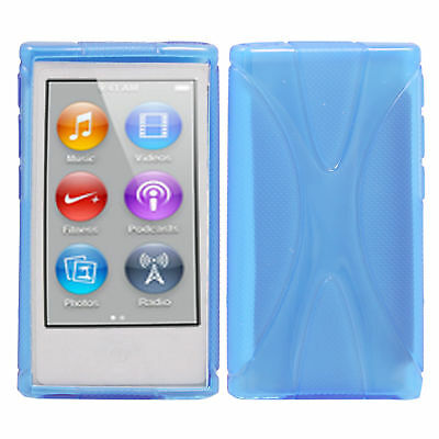 New Blue Soft TPU Case Cover Skin For Apple ipod Nano 7 7G 7th Generation