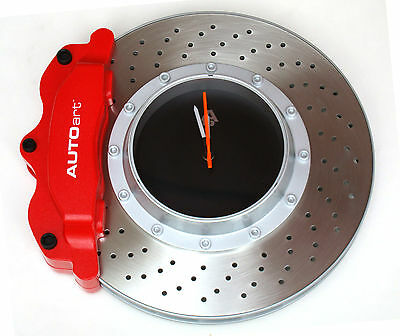 Disc Brake Wall Clock With Red Caliper