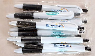 Drug Rep Pens (Nasonex Clarinex ) Plastic Fine Point Gel Ink  Lot of 10