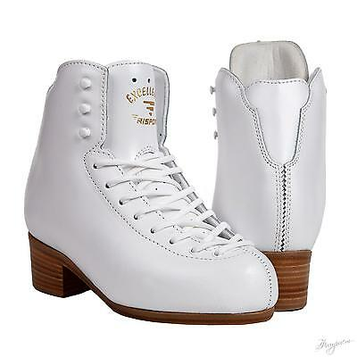 Risport Excellence Skating Boots White Size 235  USA 5 Single Jumps & Doubles