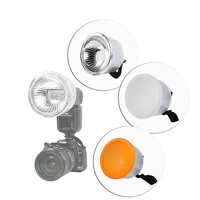 Universal Clear Lambency Flash Diffuser + Cover Set for Flash