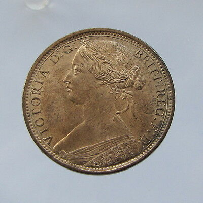 Victoria, bronze penny, 1862, EF with lustre