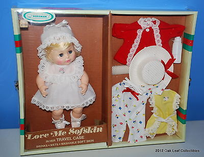 Horsman Love Me Sofskin in Her Travel Case Doll - NRFB 1970's