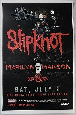 Slipknot - Saturday July 2nd, 2016 * ORIGINAL CONCERT POSTER * RARE