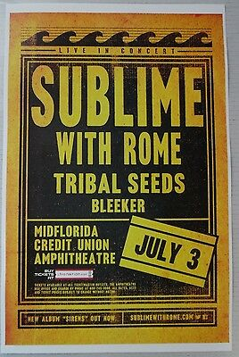 Sublime with Rome - Sunday July 3rd, 2016 * ORIGINAL CONCERT POSTER * RARE