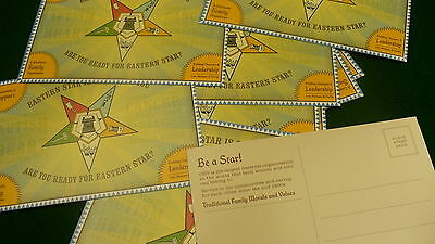 Promote Eastern Star Publicity cards lot 25 NEW membership prospective OES LOT
