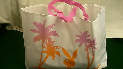 Playboy Fragrances for women shopping bag tropical motif  carry all tote NEW