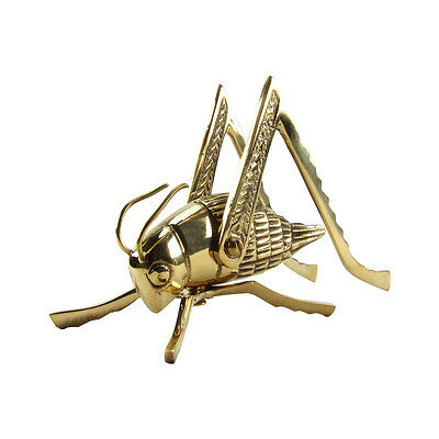 New Brass Lucky Cricket Rustic Fireplace Hearth/Mantle House&Home Crickets Decor