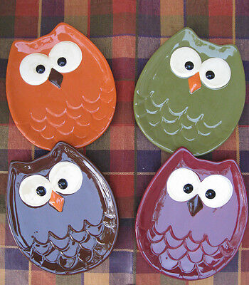 Owl-Shaped Appetizer Plate (Set of 4)