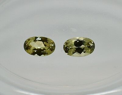 Zultanite Natural Loose Gems 8x5mm Oval Cut Pair (2) 2.42 CTTW Cert of Auth C008