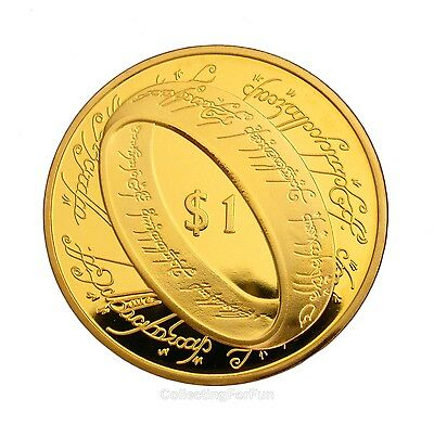 The Lord of the Rings 24K Gold Plated Commemorative Coin Token