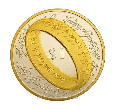 The Lord of the Rings 24K Gold & Silver Plated Commemorative Coin Token