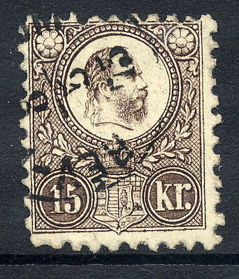 HUNGARY 1871 15k blackish-brown engraved, fine used